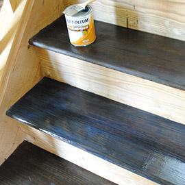шлифовка и покраска лестницы