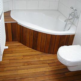 укладка паркета в ванной
